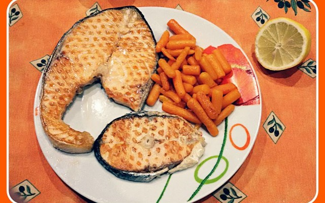 Salmone e carotine: un Orange Menu'